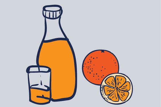 Verse jus d'orange